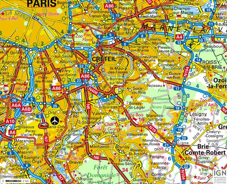 IGN-carte-routes-villes-94-Val-de-Marne
