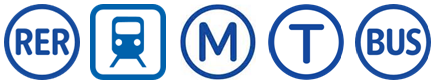 Logo RER transilien métro tramway bus