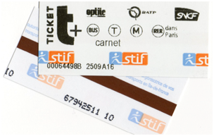 LES TRANSPORTS ticket-rer-bus-metro-paris-idf